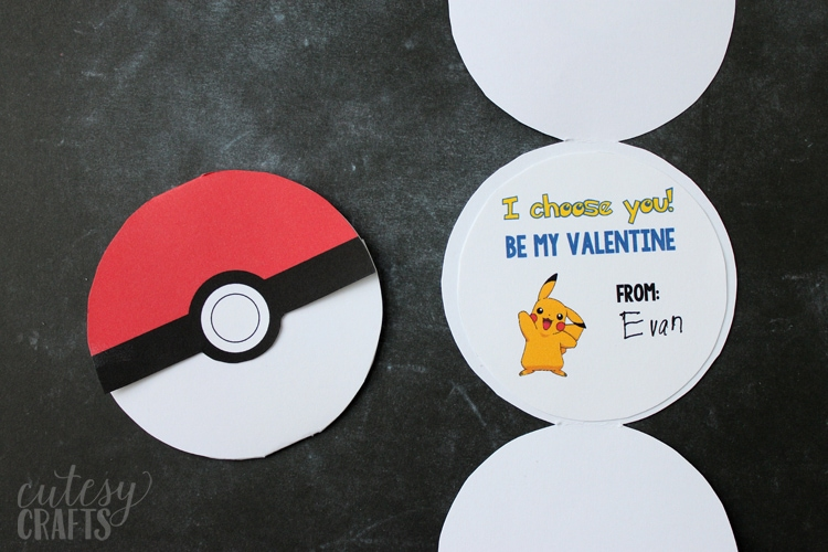 Free Printable Pokemon Valentines for Kids from Cutesy Crafts