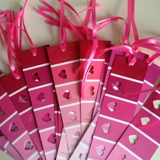 Valentine's Day Bookmarks from Lu Bird Baby