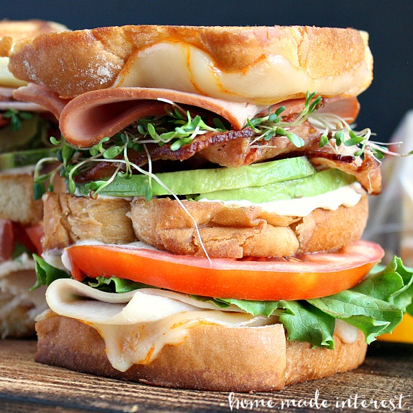 Grilled California Club Sandwich from Homemade Interest