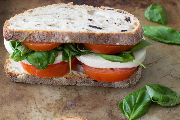 Caprese Sandwich from Eat Thrive Glow