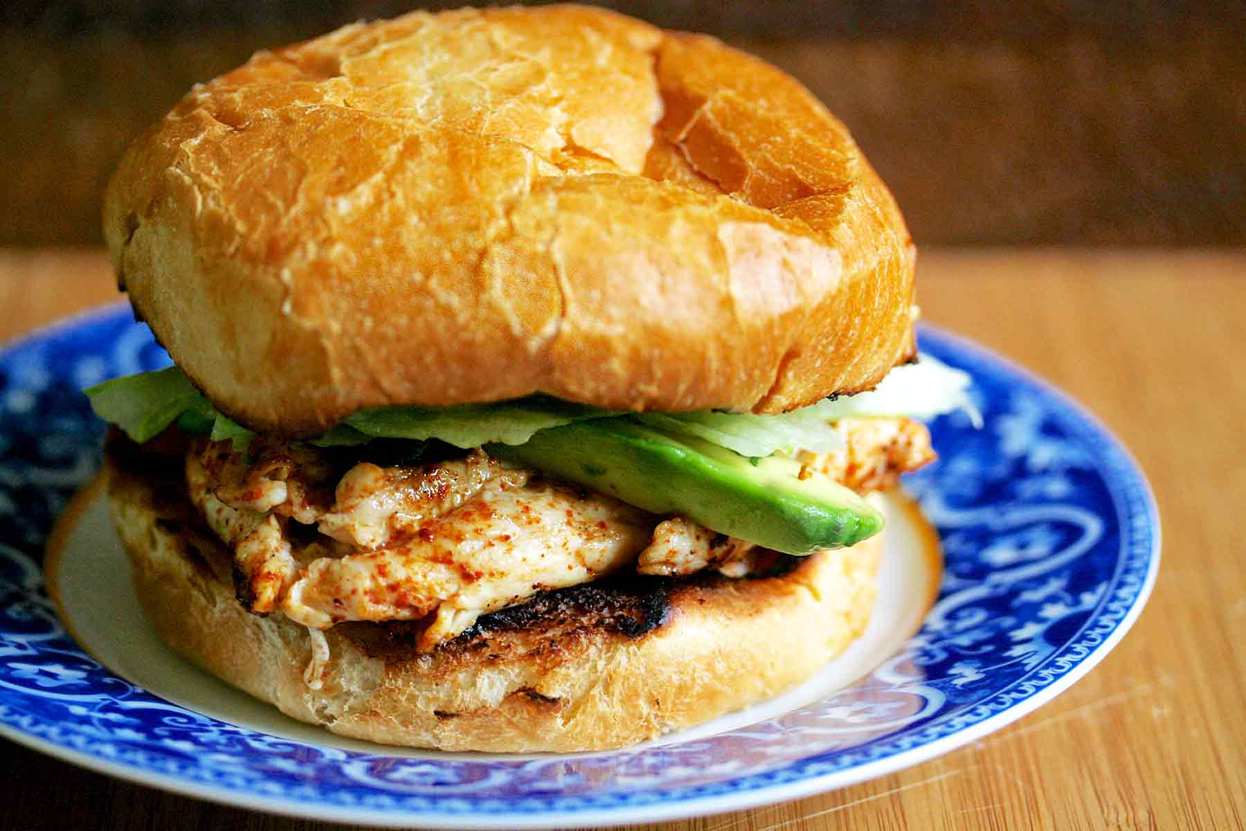 Chipotle Grilled Chicken with Avocado Sandwich from Simply Recipes