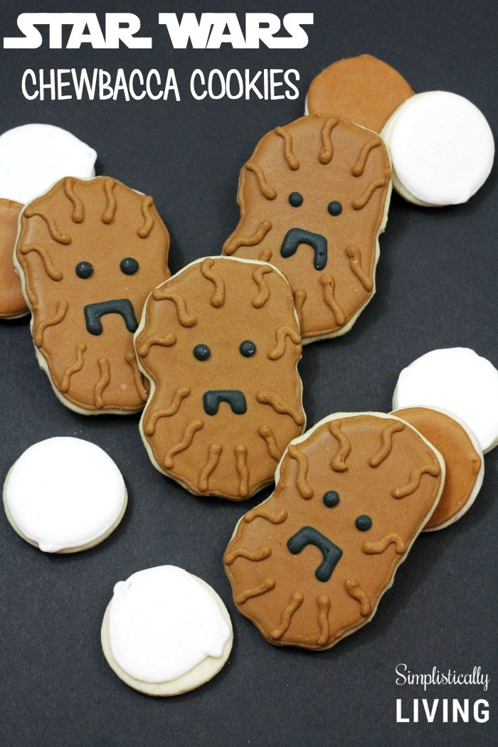 Homemade Star Wars Chewbacca Cookies from Simplistically Living