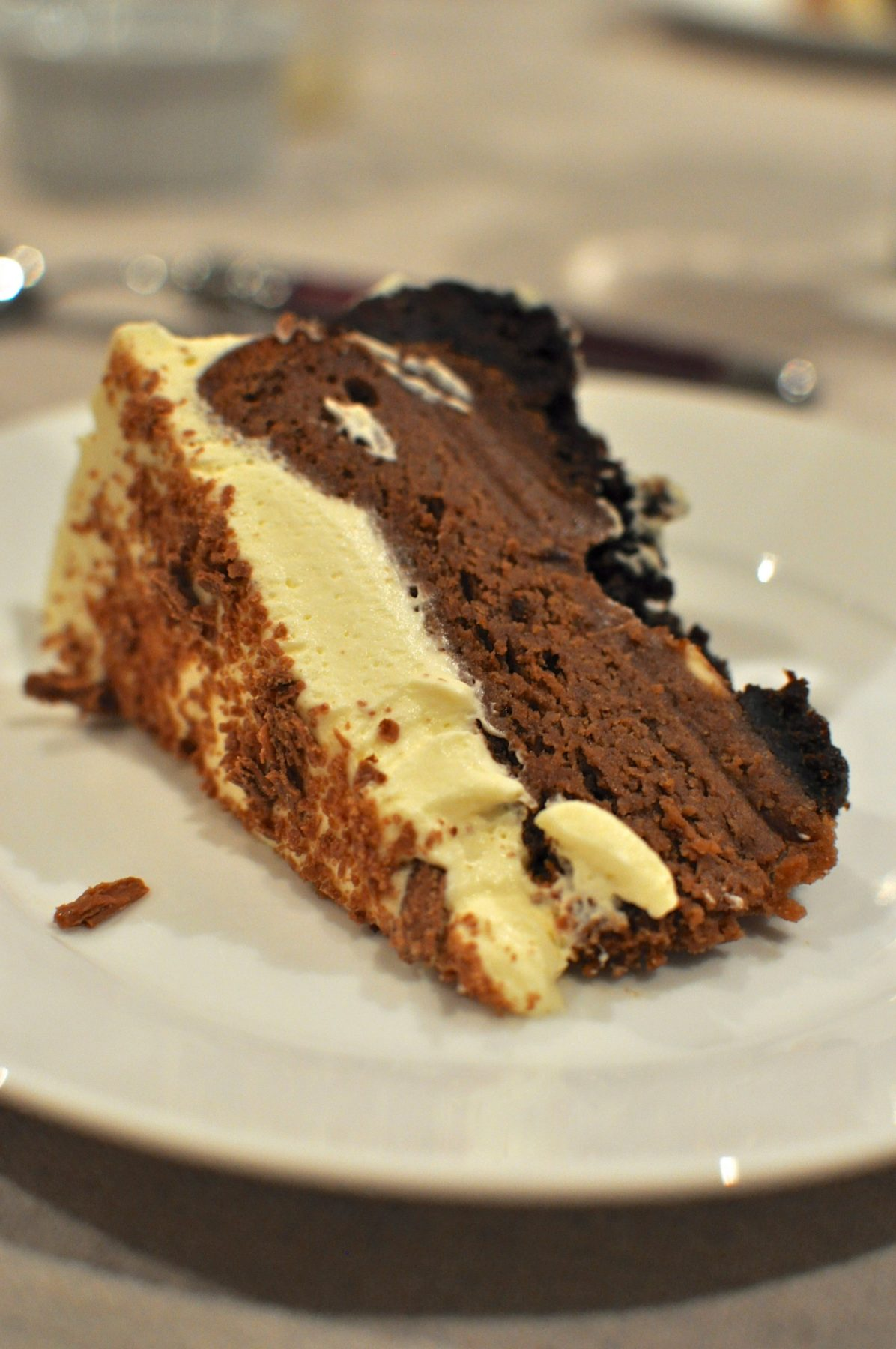 Chocolate Cream Cheesecake from Claire K Creations