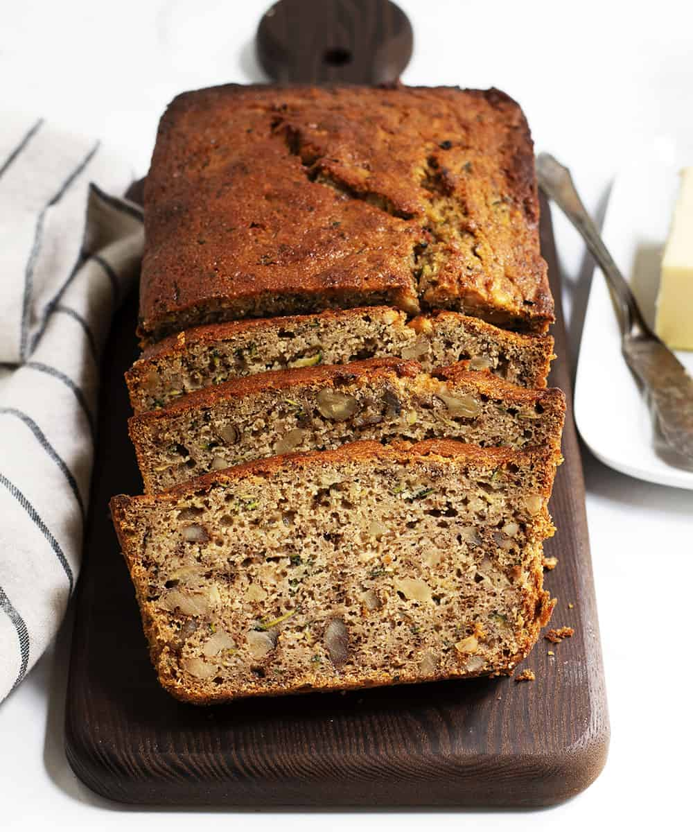 Zucchini Banana Bread from Pinch and Swirl