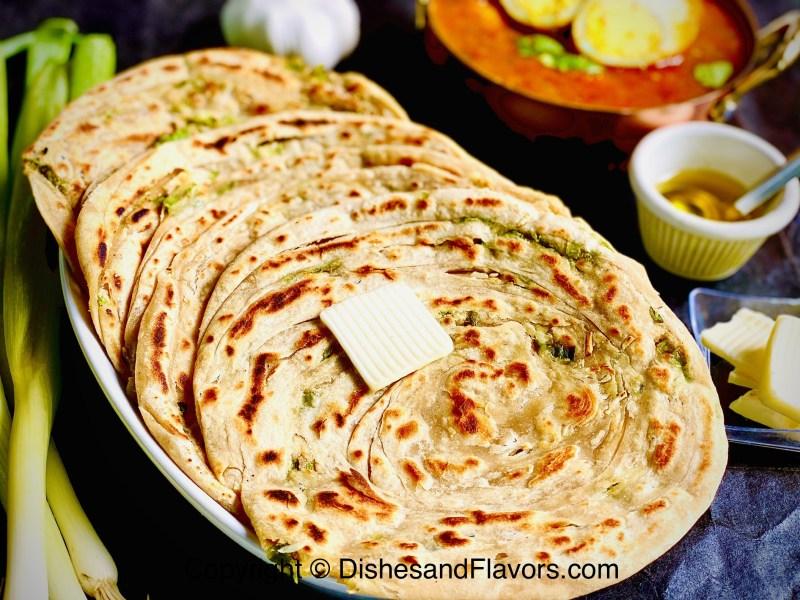 Spring Onion Laccha Paratha