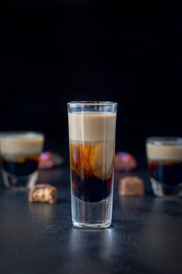 snickers shot — candy-inspired cocktails