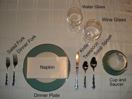 Easy guide to setting a fancy dinner table