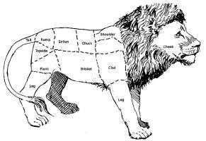 Lion meat chart