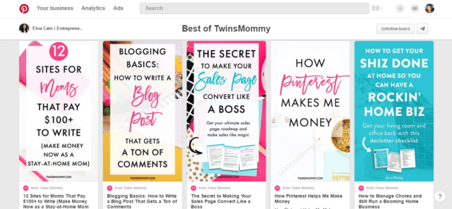 Elna from TwinsMommy.com knows how to create amazing pinnable images that get her tons of repins and traffic to her brand new blog.
