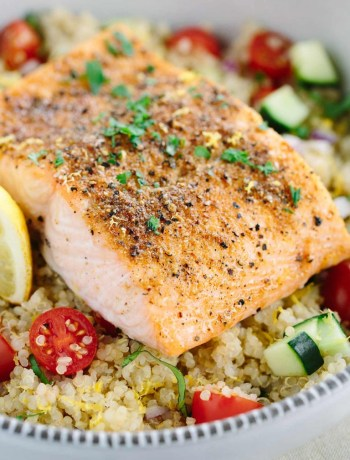 Spiced Salmon with Quinoa