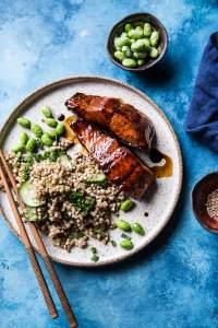 Teriyaki Salmon with Sesame Toasted Buckwheat