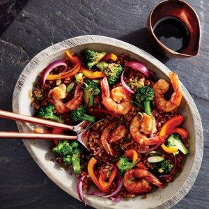 Farro Shrimp Stir Fry