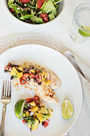Tilapia & Mango Salsa