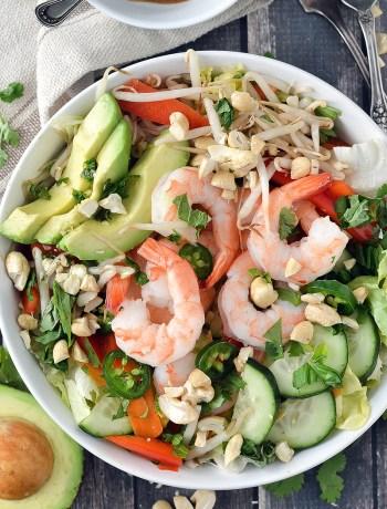 Shrimp Spring Roll Salad