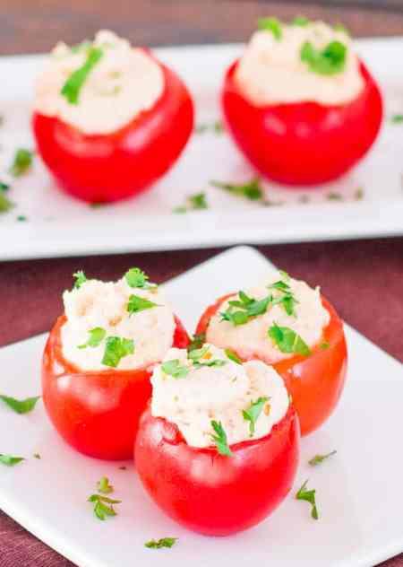 Shrimp and Crab Dip Stuffed Tomatoes