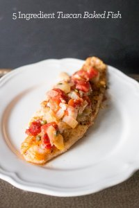 Tuscan Baked Cod