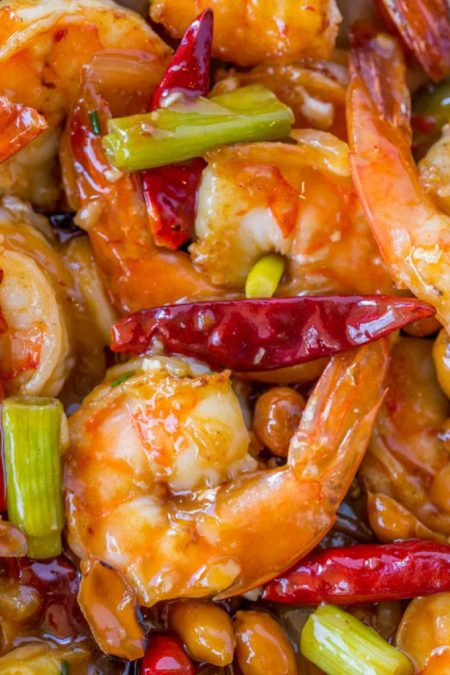 Seafood Restaurant Dishes - Kung Pao shrimp