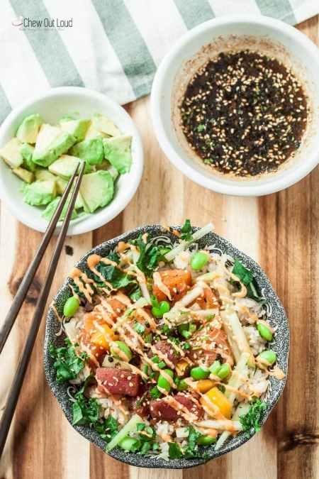 Seafood Restaurant Dishes - Poke bowl