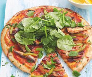 Mediterranean sardine pizza
