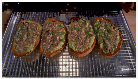 seafood meals and snacks - Sardine toast