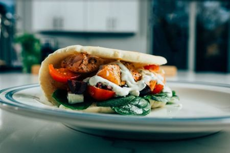 grilled seafood recipes- Salmon gyro