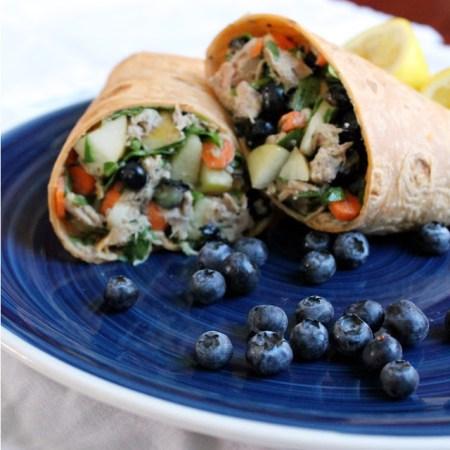scrumptious seafood- Blueberry tuna wraps