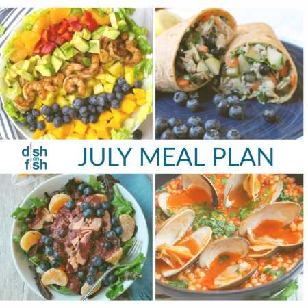 scrumptious seafood- July meal plan