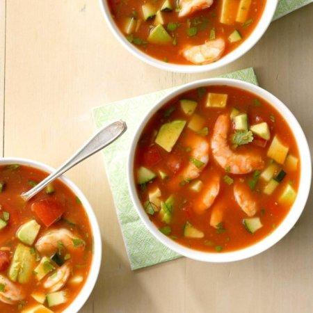 healthy summer- Shrimp gazpacho