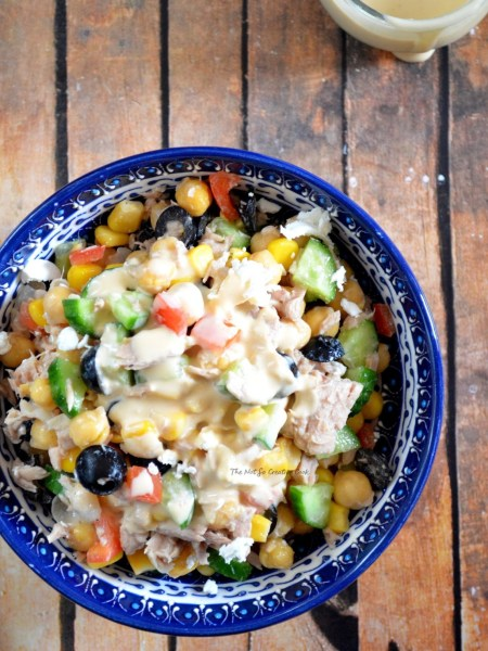 healthy summer- Tuna salad with chickpeas