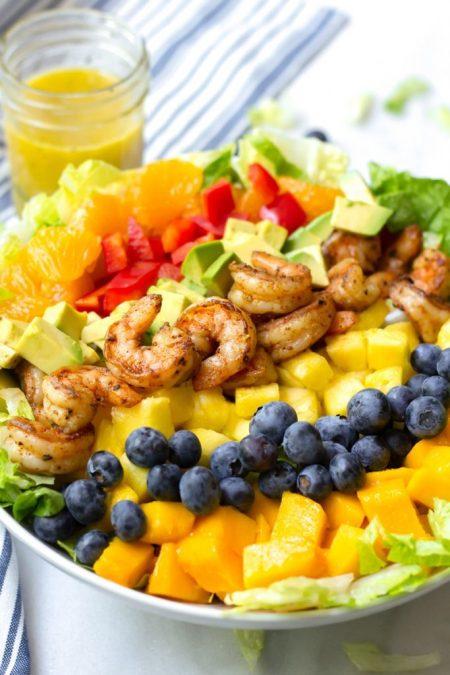scrumptious seafood- Tropical shrimp salad
