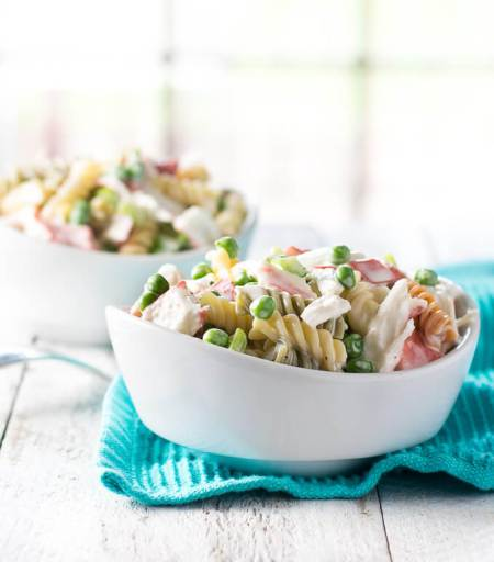 Summer Seafood- pasta salad