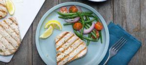 Garlic herb tuna steak