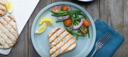 grilled seafood recipes- Herb grilled tuna steak