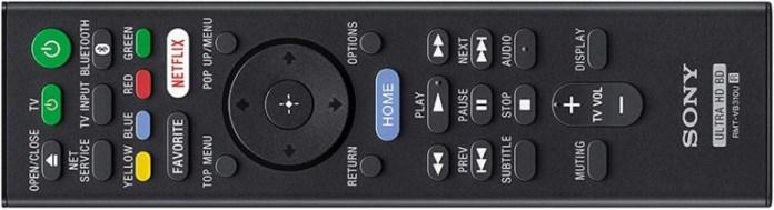 Sony ubp-x800m2 remote