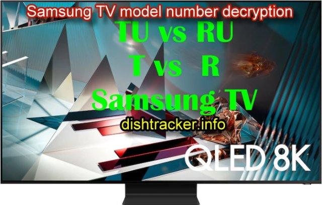 Samsung TV model number decryption