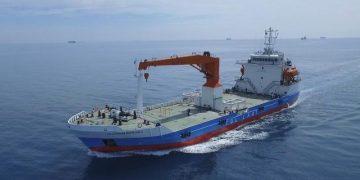 KM. Kendhaga Nusantara 2 mulai beroperasi melayani angkutan barang di laut untuk wilayah barat Indonesia (Gambar ilustrasi).