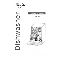 Whirlpool ADG 185 Dishwasher View Pdf and Manual