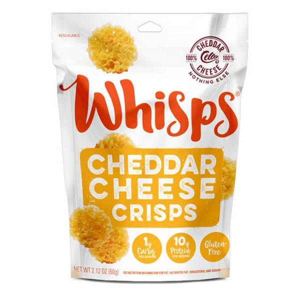Bag of Whisps Cheddar Cheese Crisps.