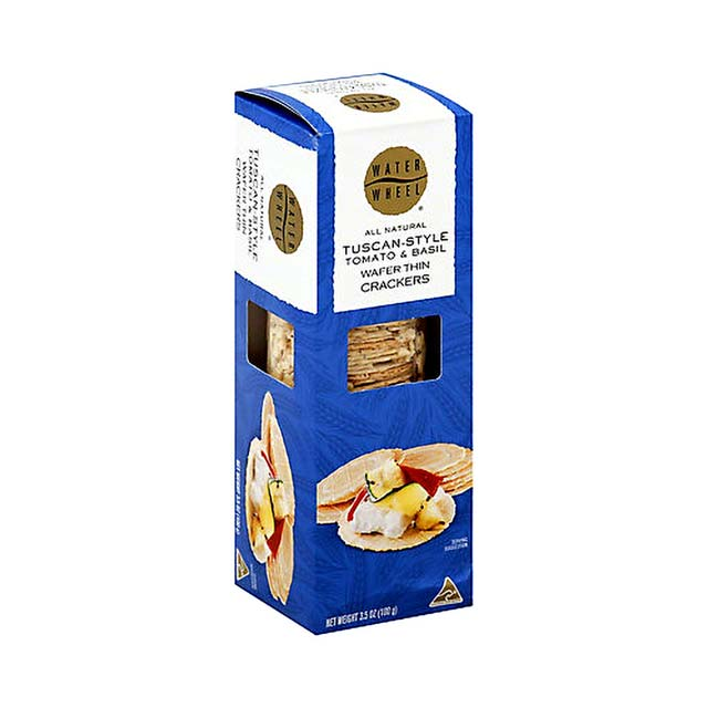 Waterwheel Tuscan-Style Tomato & Basil Wafer Thin Crackers