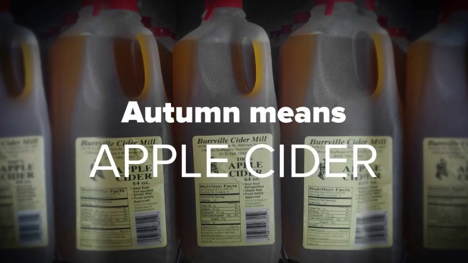Autmn Means Apple Cider video thumbnail.