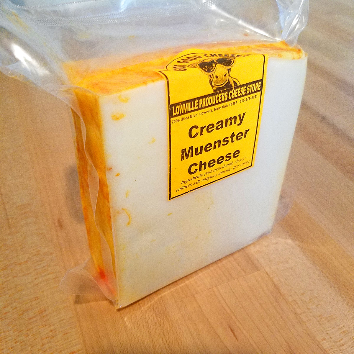 Creamy Muenster Cheese – Lowville Producers Dairy