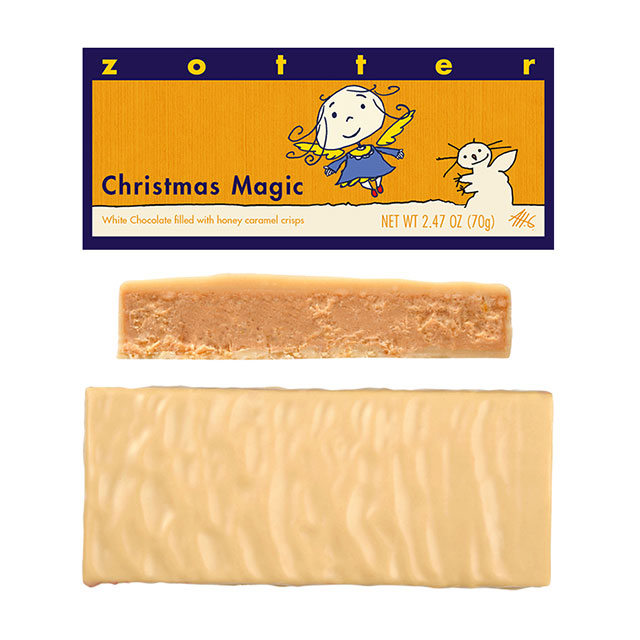 Zotter Christmas Magic Hand-Scooped Chocolate Bar