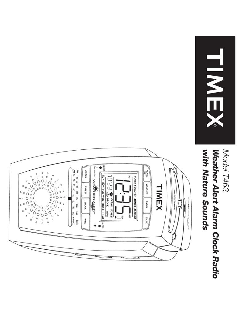 Timex T313 Clock Radio User Manual 4 8 Forward Reverse