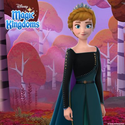 Anna wears a dark dress