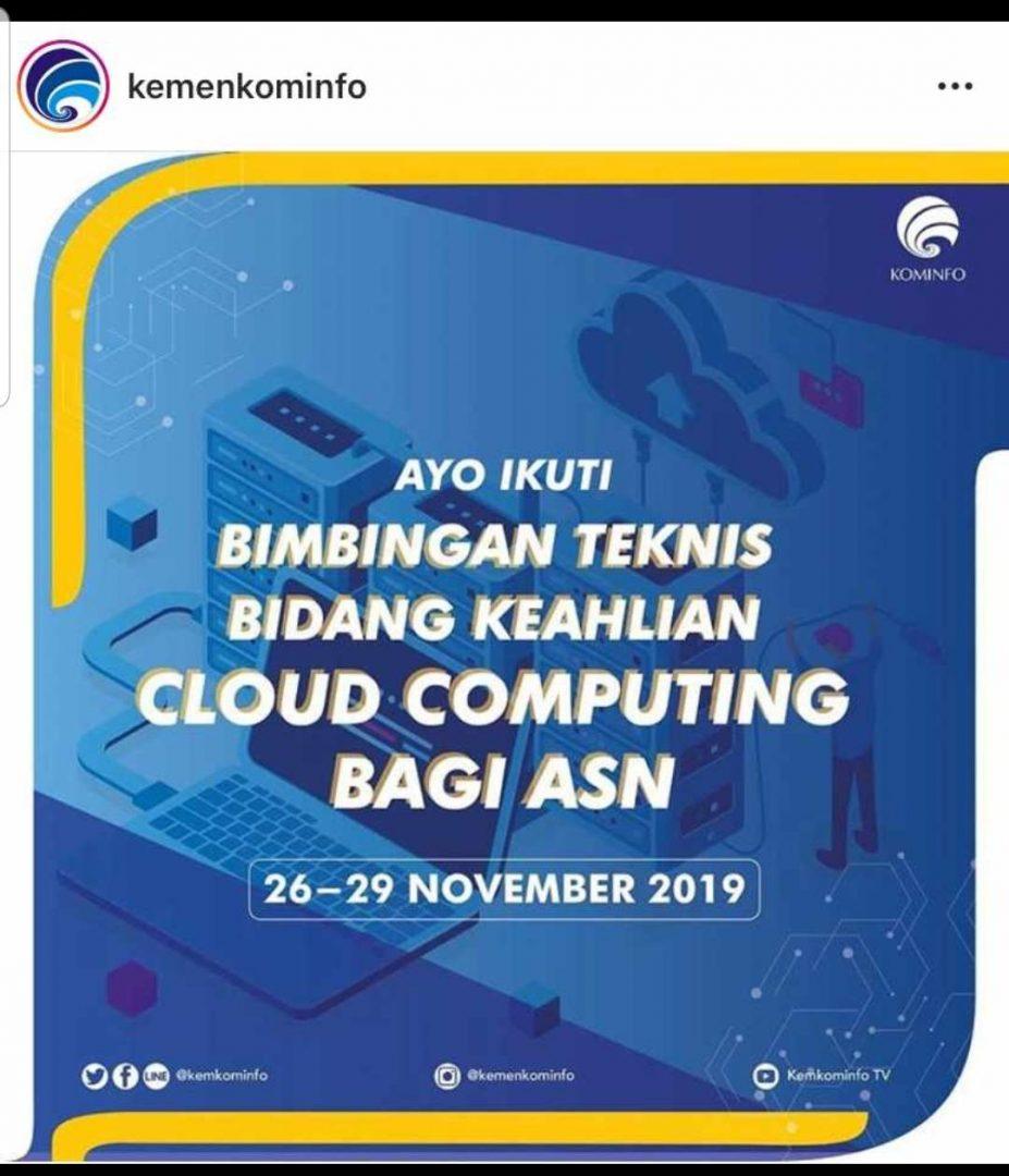Bimbingan Teknis Bidang Keahlian Cloud Computing Bagi ASN