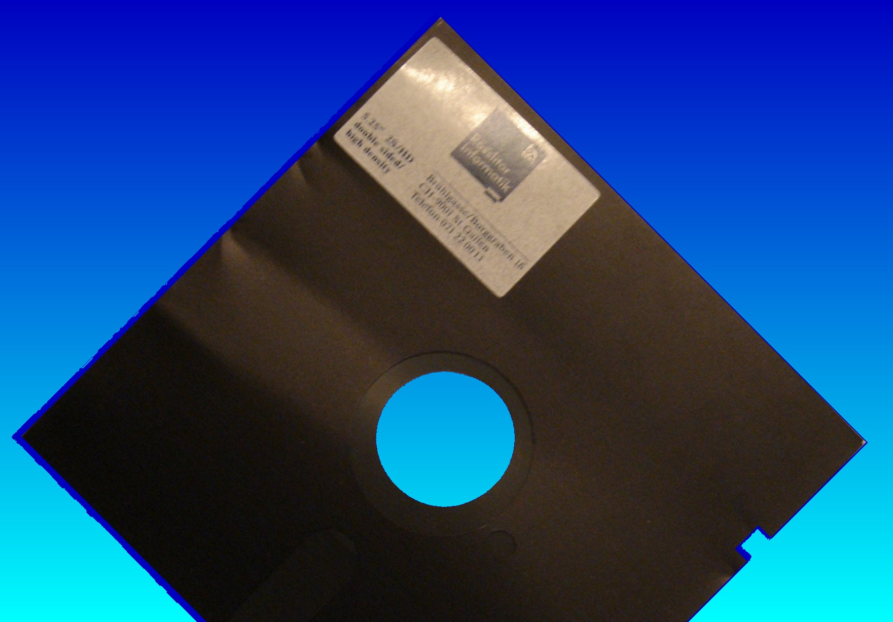 5.25 floppy disk transfer to CD for QA data retention