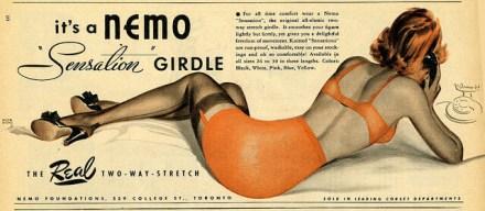 Casci's Fashion Resolutions. Woman in orange girdle