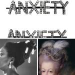 """History of hair accessories rhinestone clips that say """"anxiety"""", Nina Simone and Marie Antoinette"""