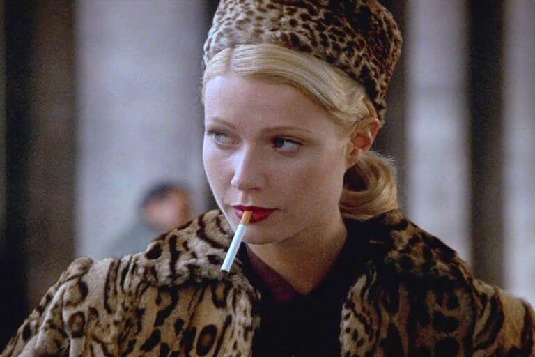 Iconic coats. Gwyneth Paltrow in a leopard fur coat and hat.