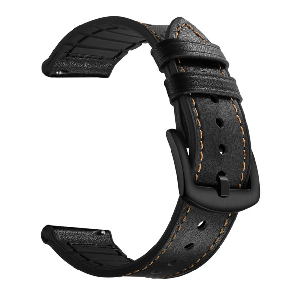 Dismay Black Rubber Leather Comfortable Watch Band Strap Replacement.